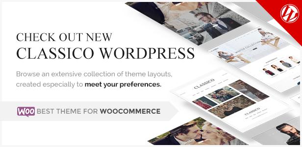 Classico - Responsive eCommerce PSD Theme