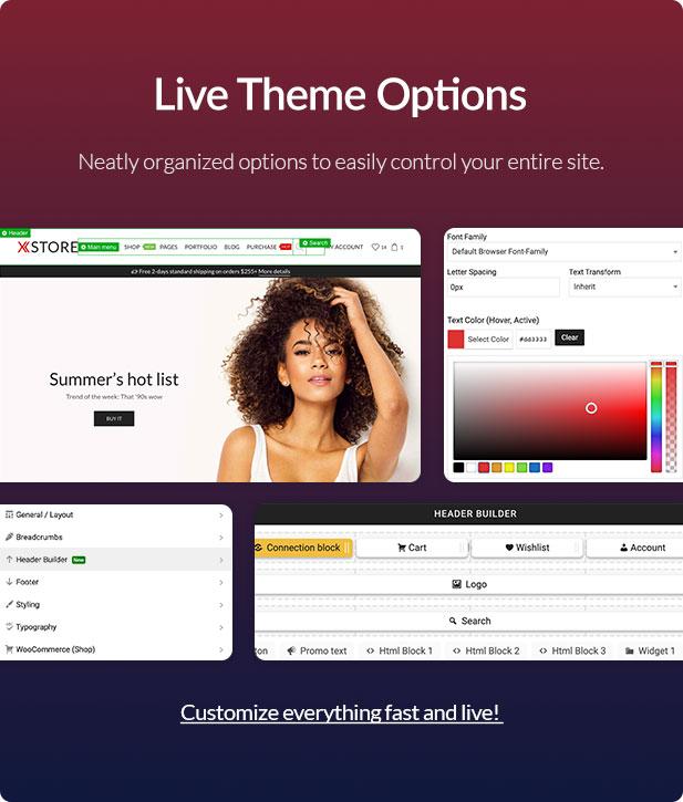 Xstore WooCommerce WordPress - Admin panel