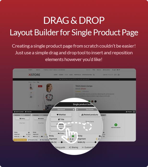 Xstore WooCommerce WordPress - single builder
