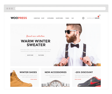 Responsive wordpress themes: beautiful Woocommerce themes
