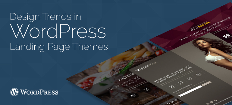 Most premium WordPress templates usually have plugins to build landing pages.